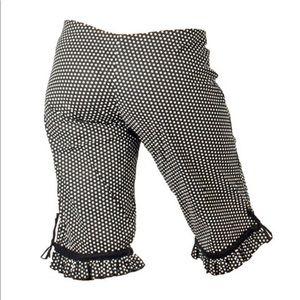 Five & Diamond Pants - Ruffle Capri GREY pants / Burning Man funky
